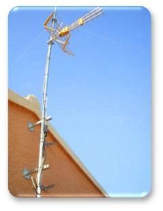 Antena para TV típica utilizada para UHF