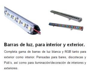 Barra de luces de LED