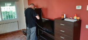 Conexión televisión instalación antenas