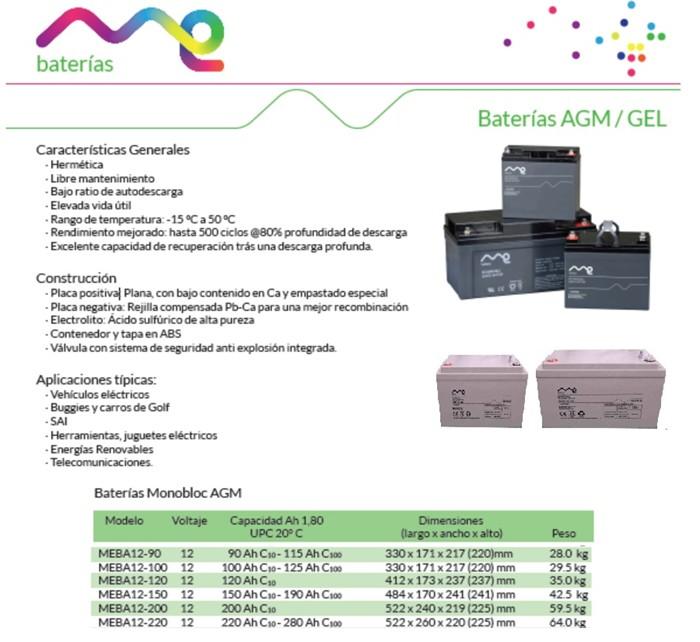 Baterías de Gel y AGM